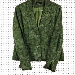 TRIBAL GREEN JACKET | VINTAGE DESIGN BUTTONS